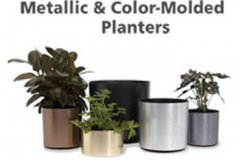 metallic-and-color-molded-planters